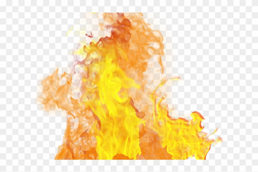Realistic fire transparent background. Flames clipart real flame