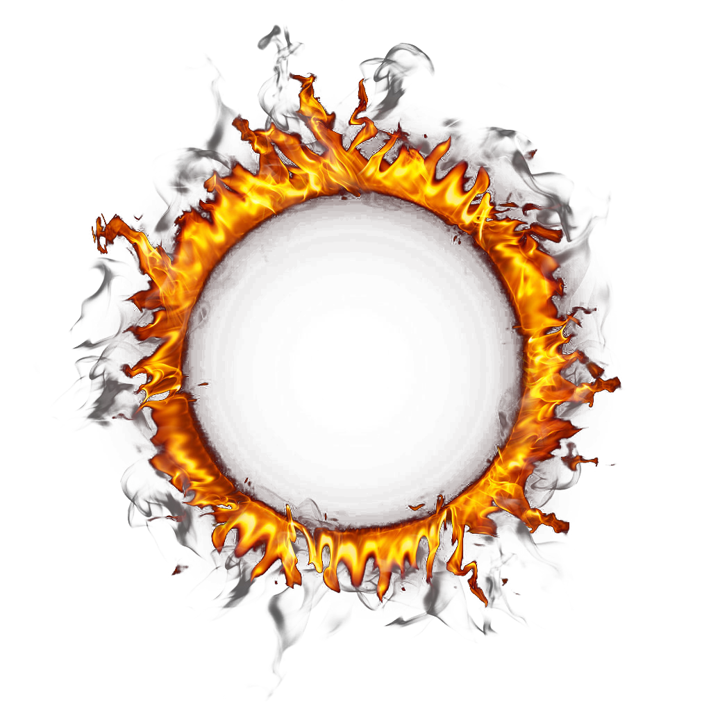 Fire border png. Ring of circle transprent