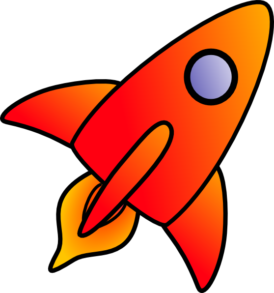 Clip art at clker. Clipart rocket orange rocket