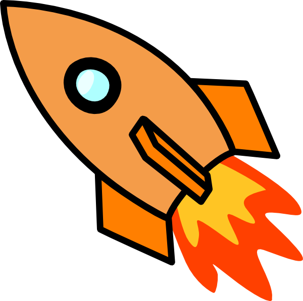 Orange clip art at. Clipart rocket flame
