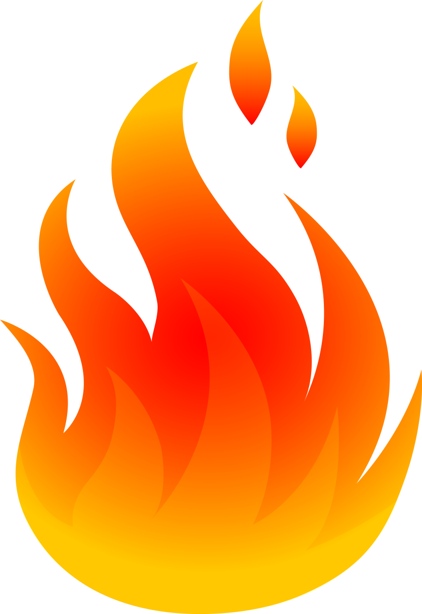 collection of flames. Clipart rocket bitmap