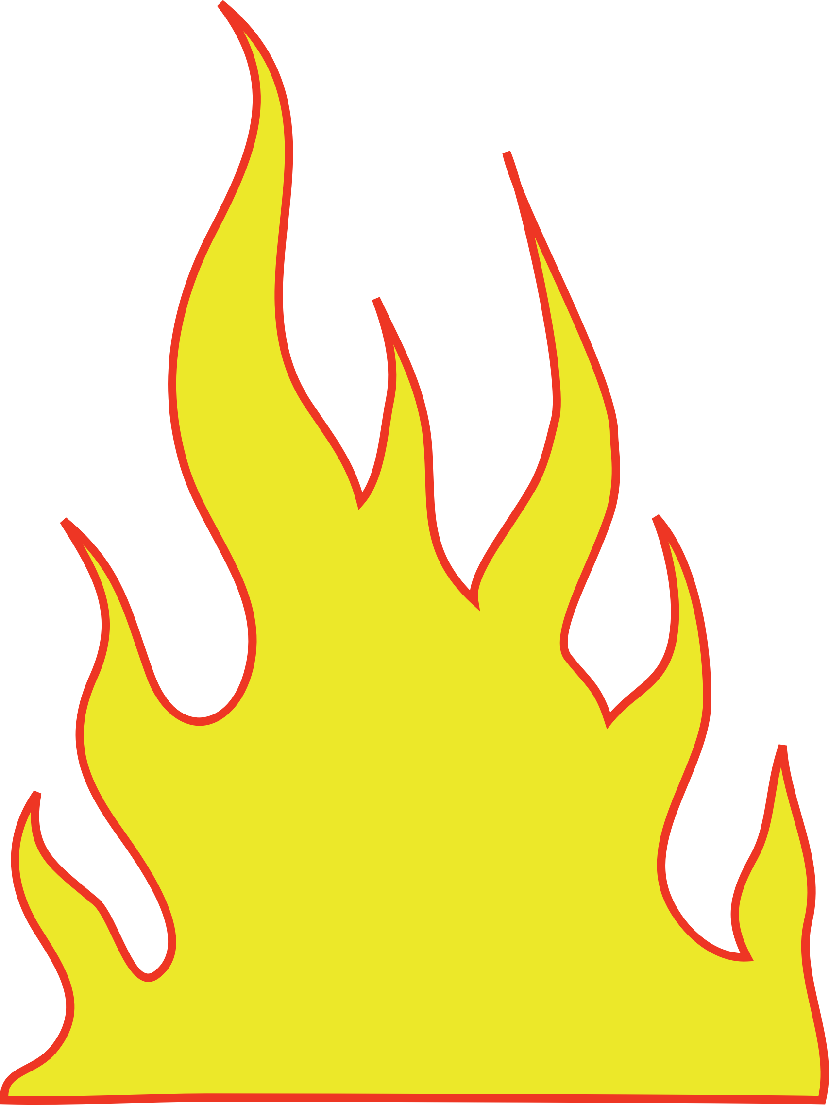 flames clipart simple fire