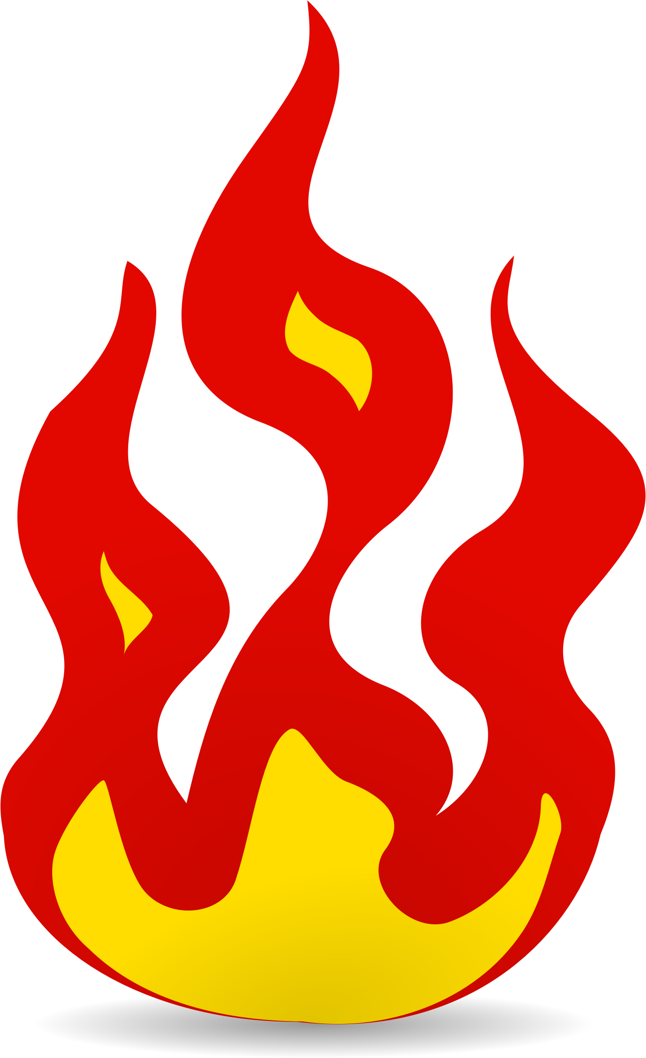 Flame simple. Clipart fire transparent free