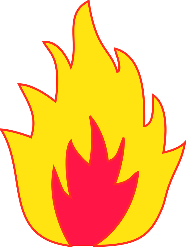 Flames clipart simple fire. Flame combustion clip art