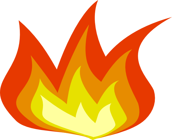 Free simple flames border. Flame clipart little