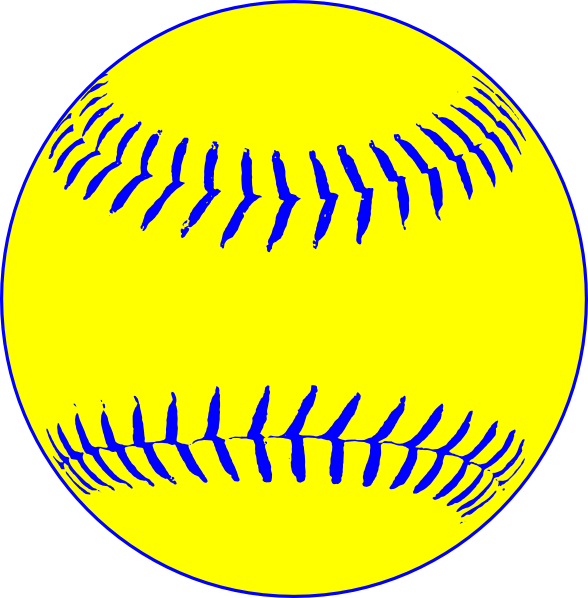 Stitch clipart softball. Yellow clip art at