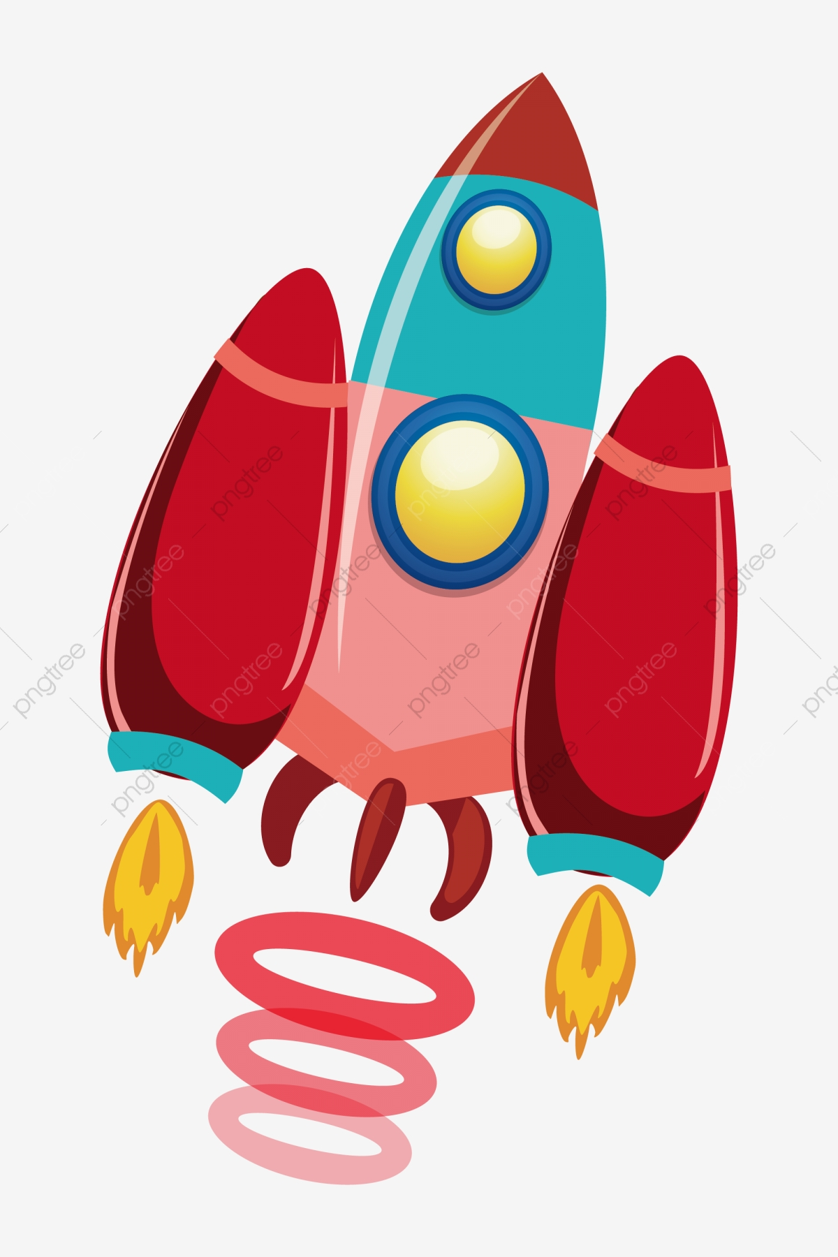 Spaceship clipart red. Cartoon yellow flame space