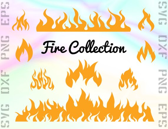 Fire files cricut . Flames clipart svg