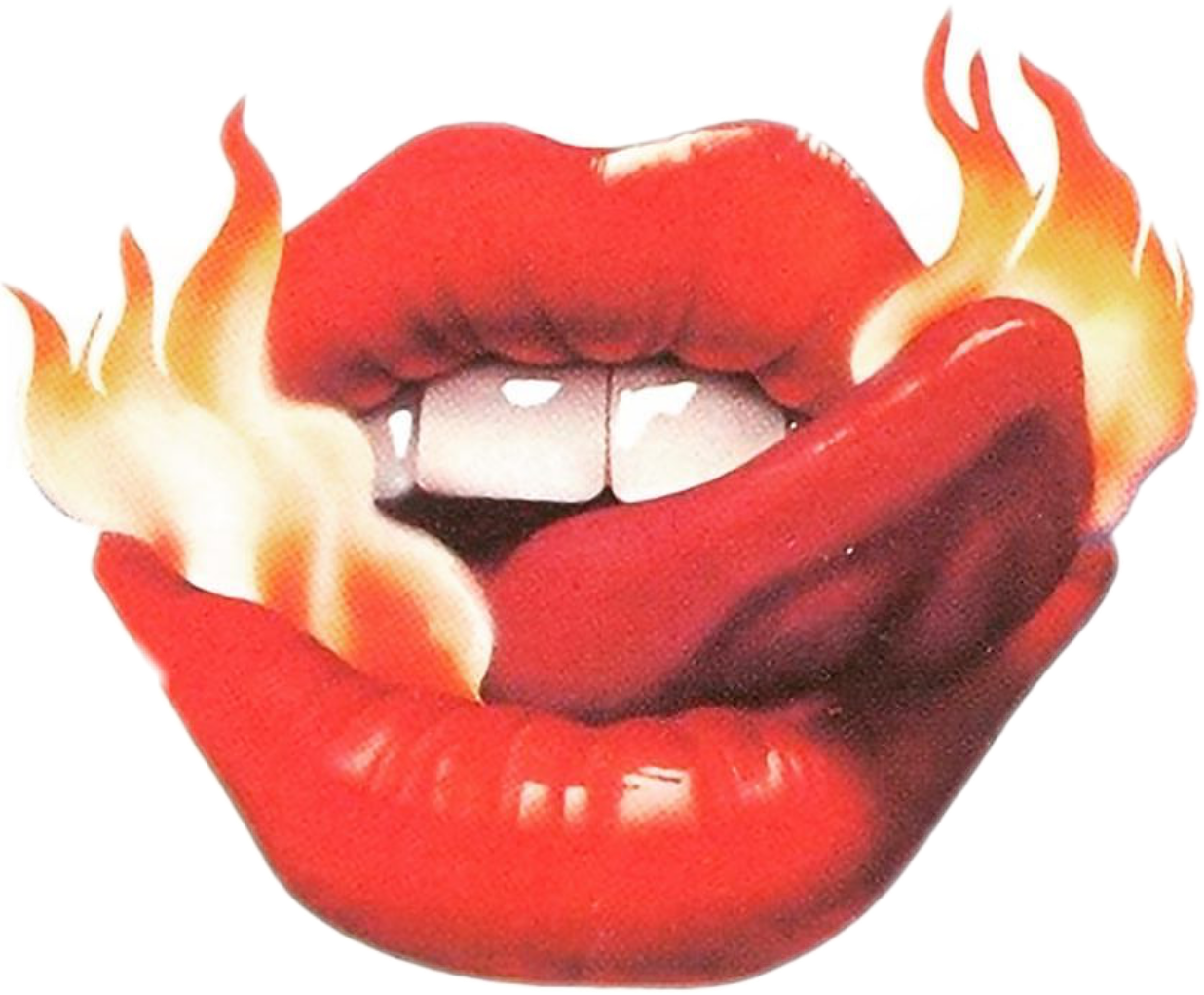 Lips red lickinglips licking. Flames clipart tongue