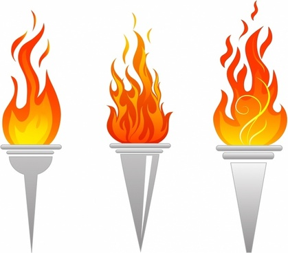 Torch clipart realistic. Fire free vector download