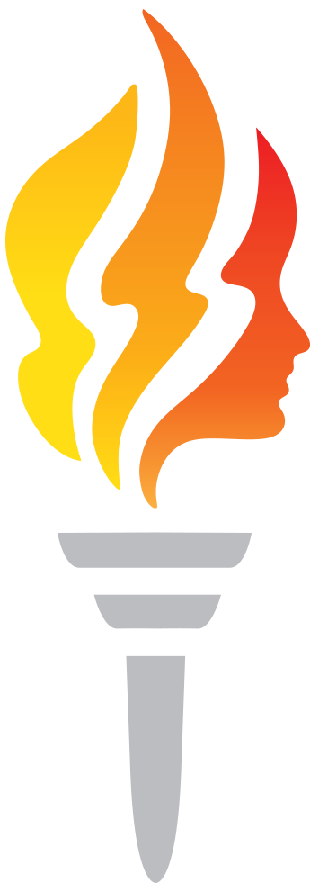 Fire top drawn hand. Torch clipart flame