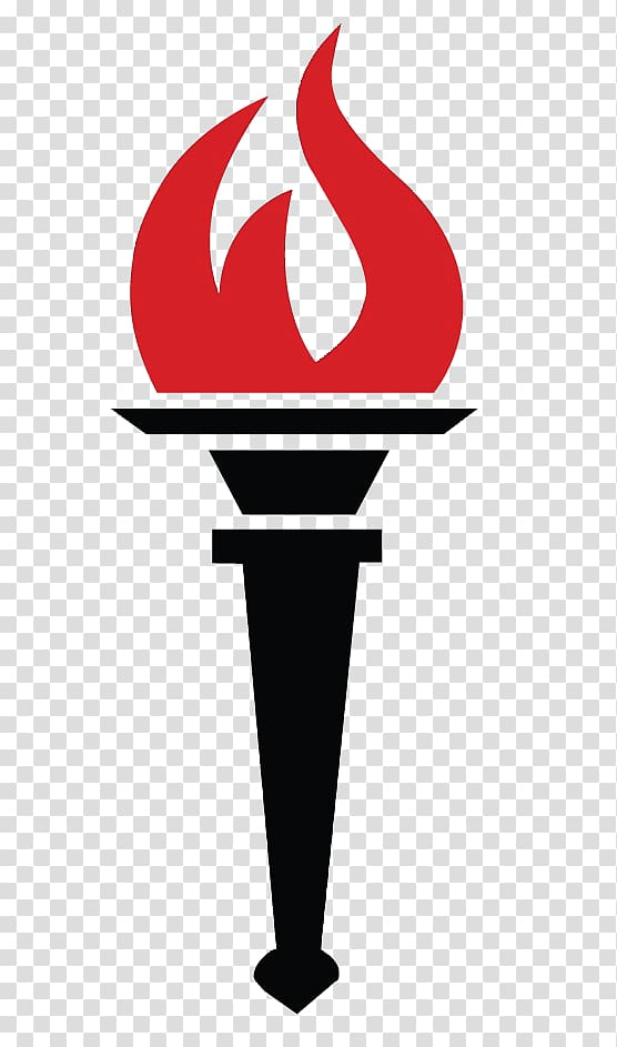 Torch clipart education. Black with red flame