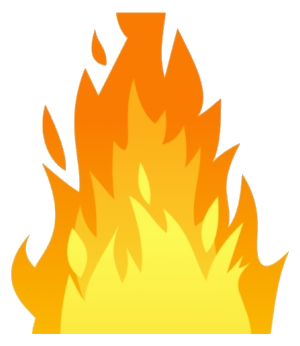 Fire flames transparent png. Flame clipart trail