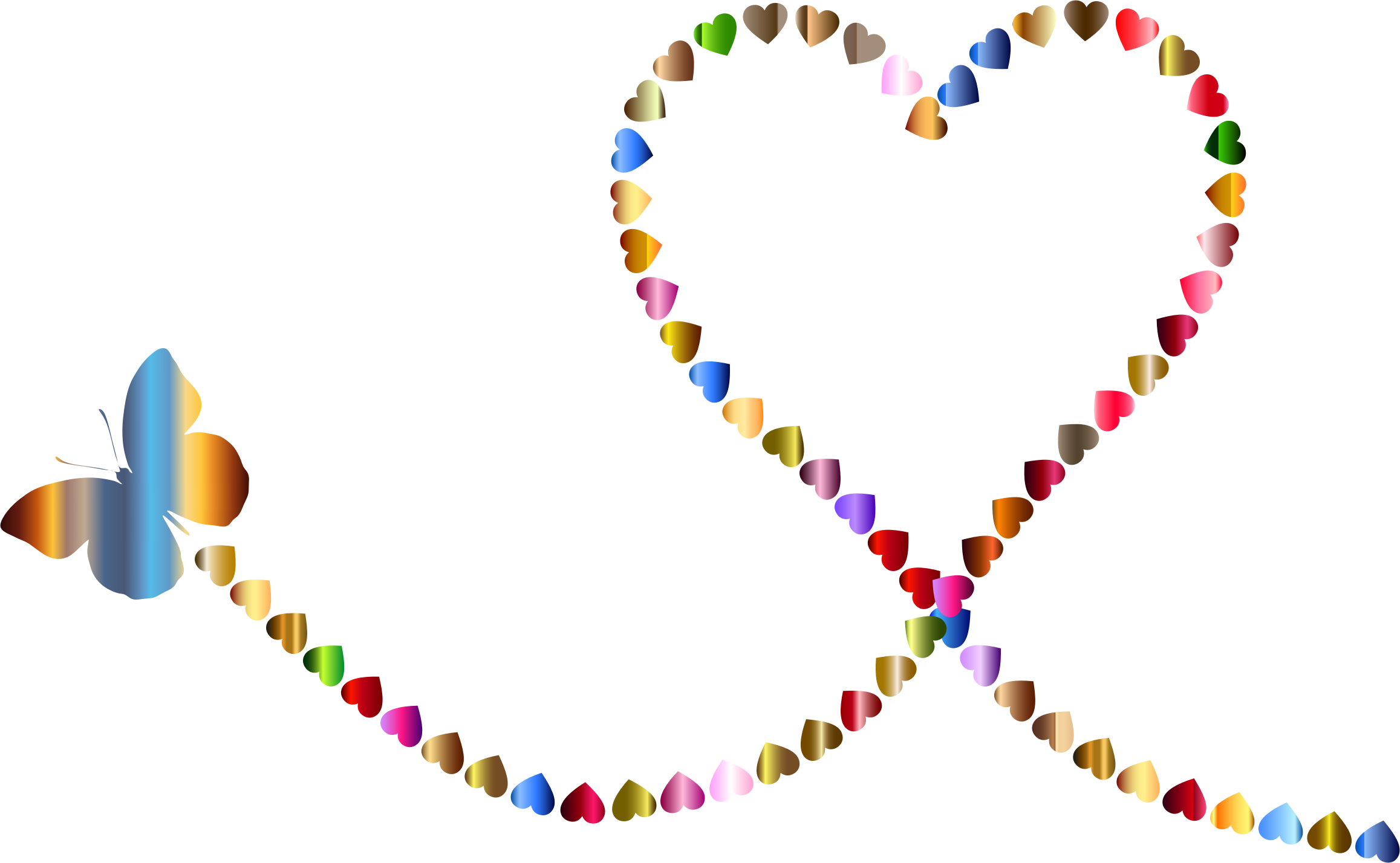 Butterfly hearts icons png. Trail clipart nature trail