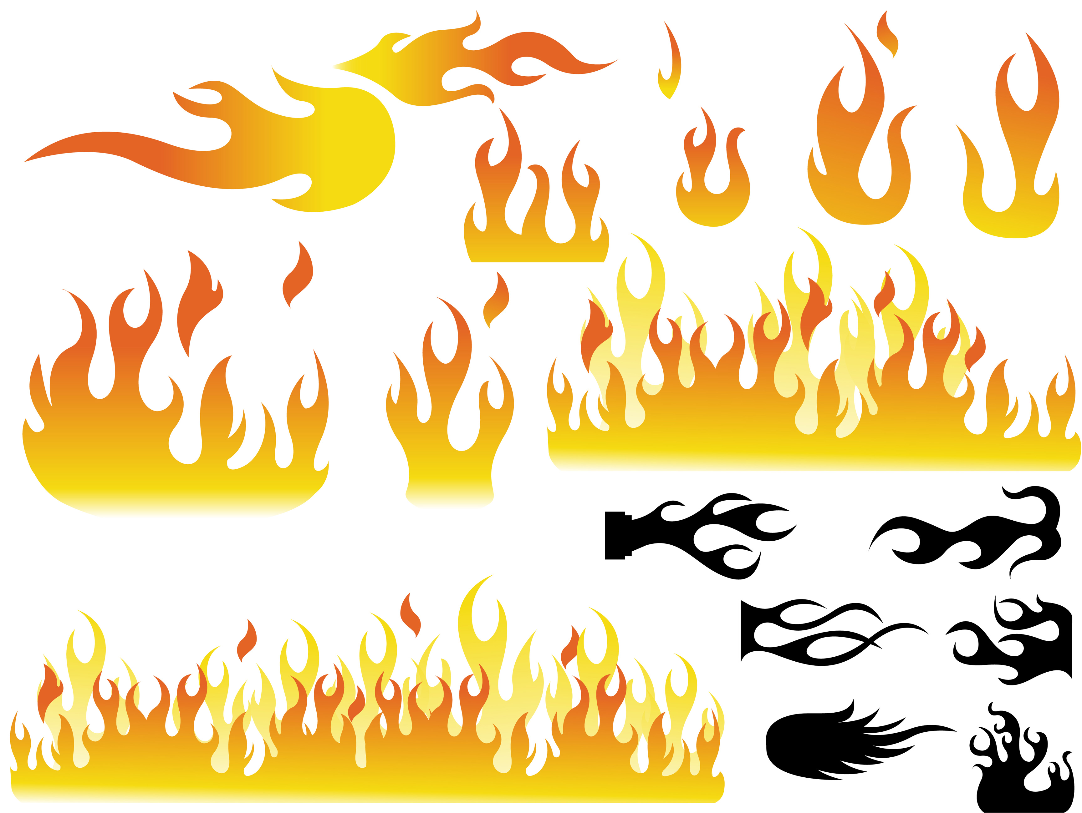 Flames clipart fire design. Free flame vector download
