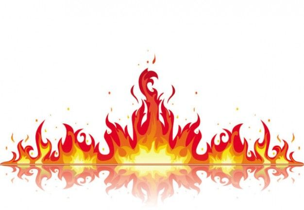 Flames clipart red flame. Clip art vector graphics