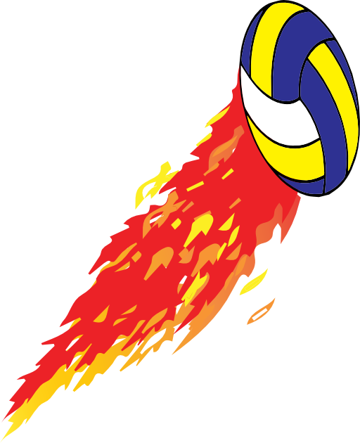 Flamed i royalty free. Clipart volleyball flame