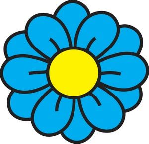 Flower clipart. Image clip art illustration