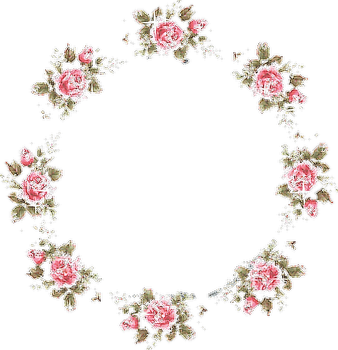 Frame flowers tumblr. Clipart roses aesthetic
