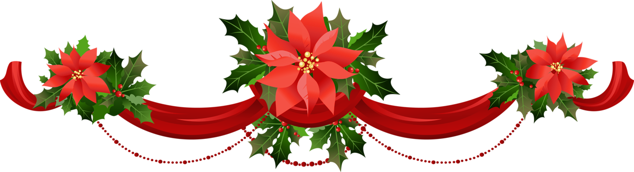poinsettias clipart banner