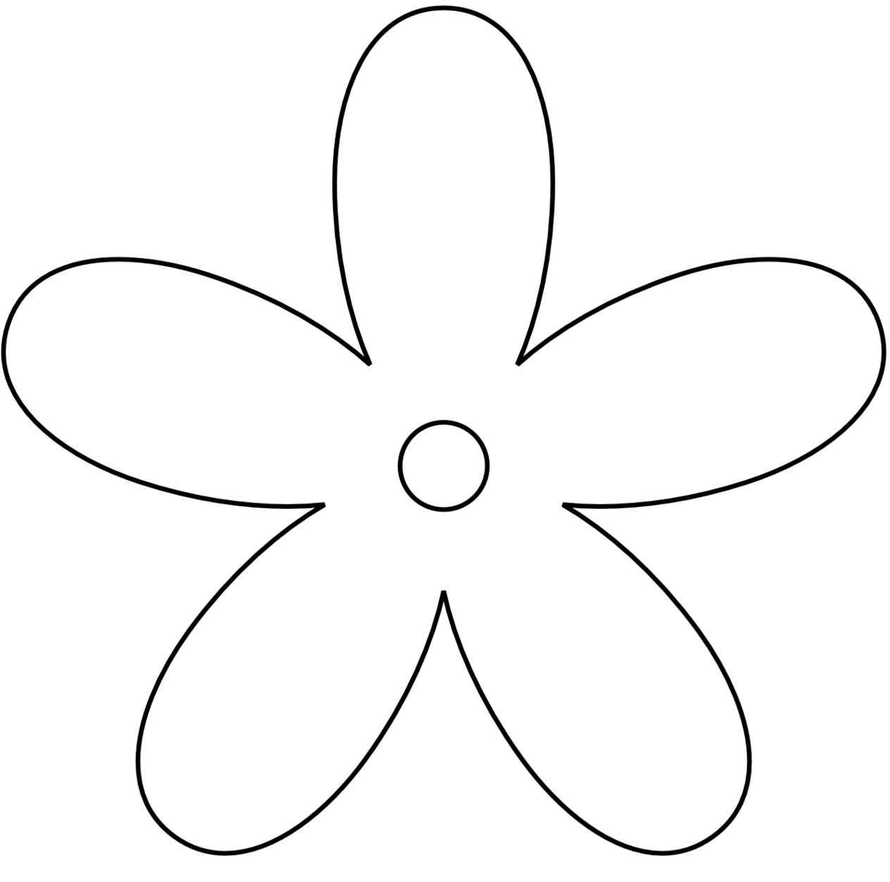 Clipart flower black and white.  collection of simple