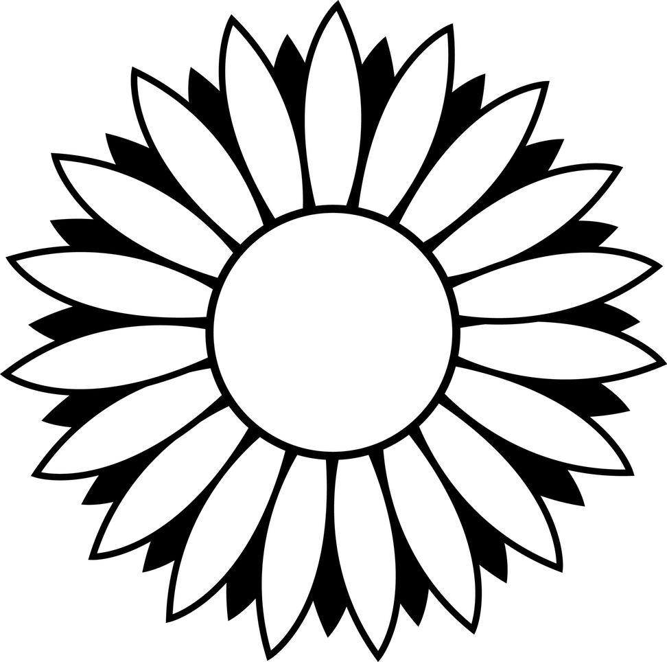 Clipart flower black and white. House line drawing clip