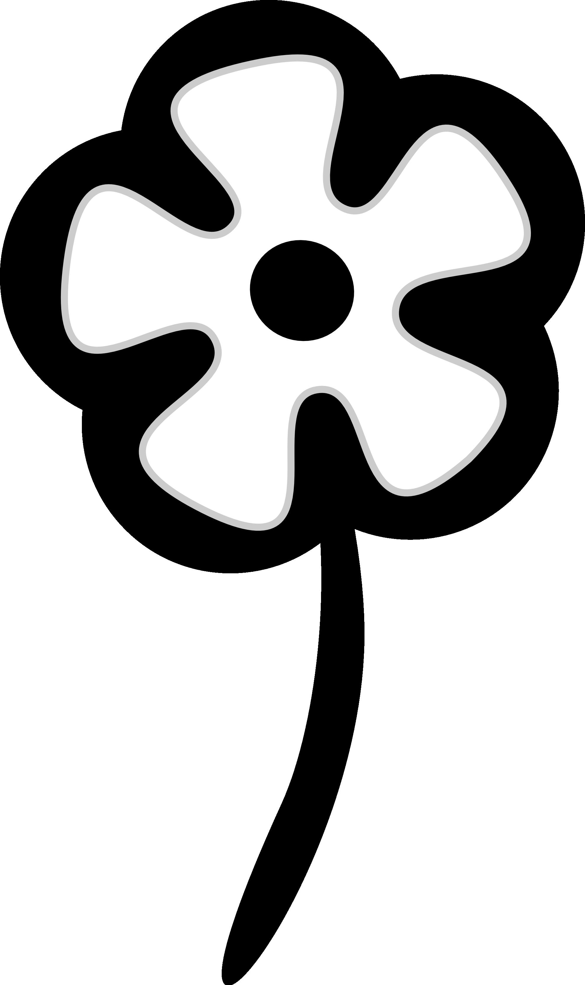 Clipart flower black and white. Clip art panda free