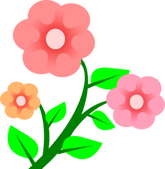 Flower clip art picture. Flowers clipart root