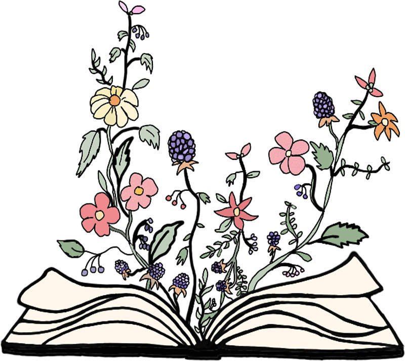 Flower clipart book. Clip art arts for