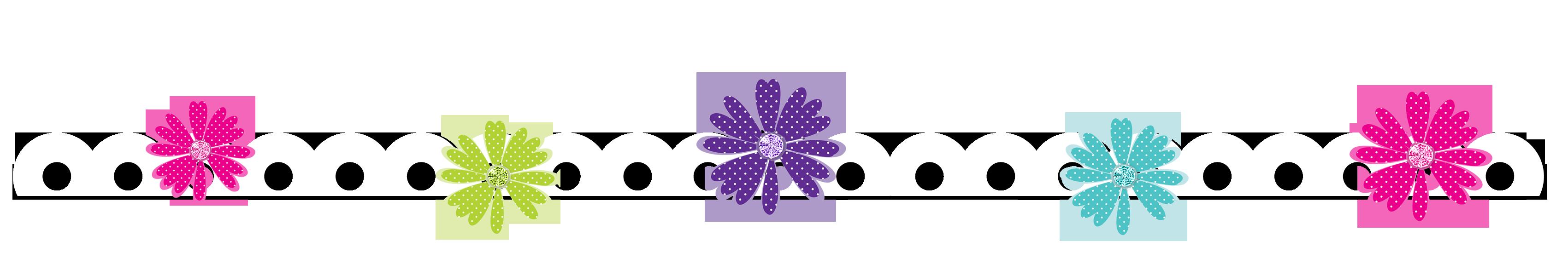 Clipart flower border line, Clipart flower border line ...