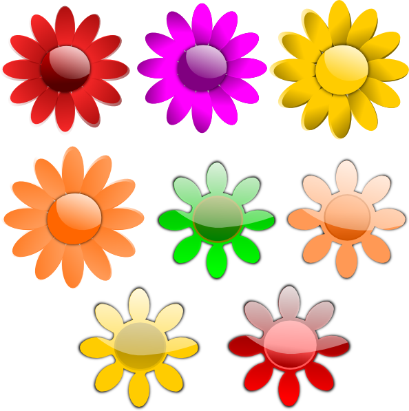 Dot clipart flower. Flowers clip art at