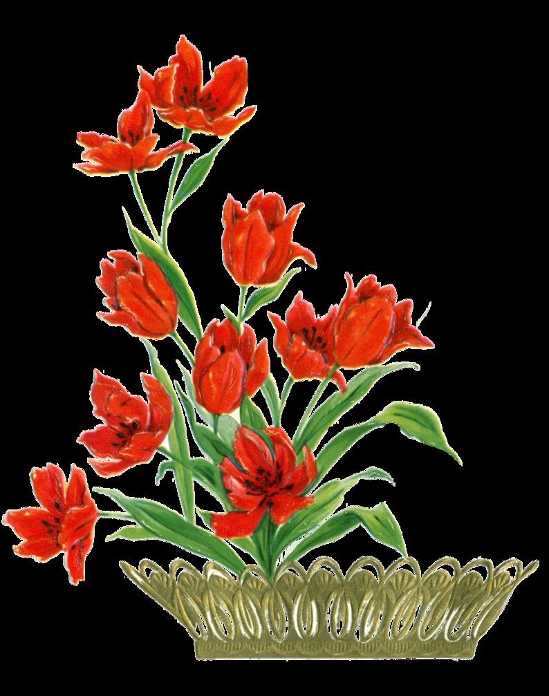 Flowers clipart card. Flower element by jinifur