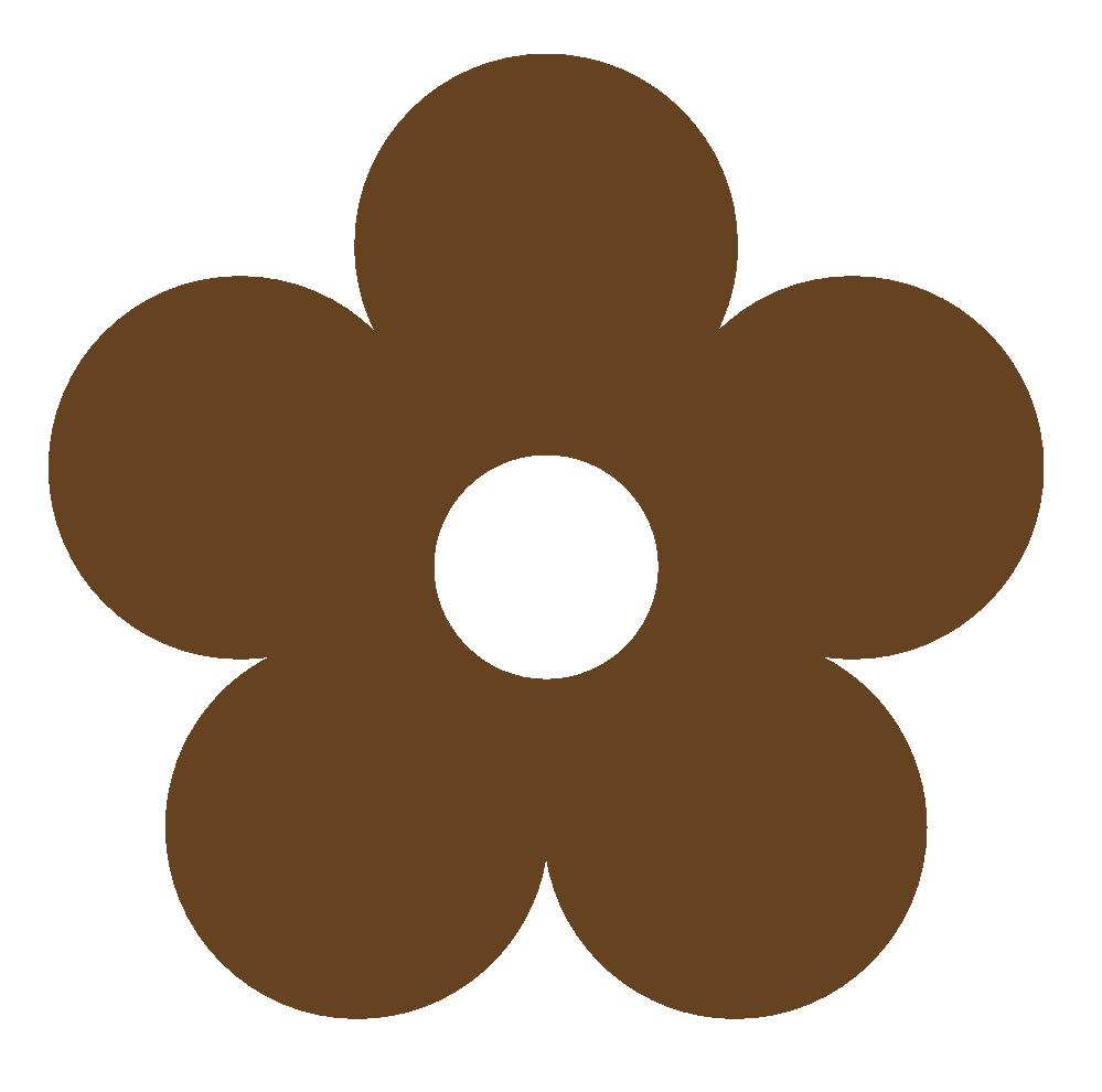 Flower . Mud clipart brown colour