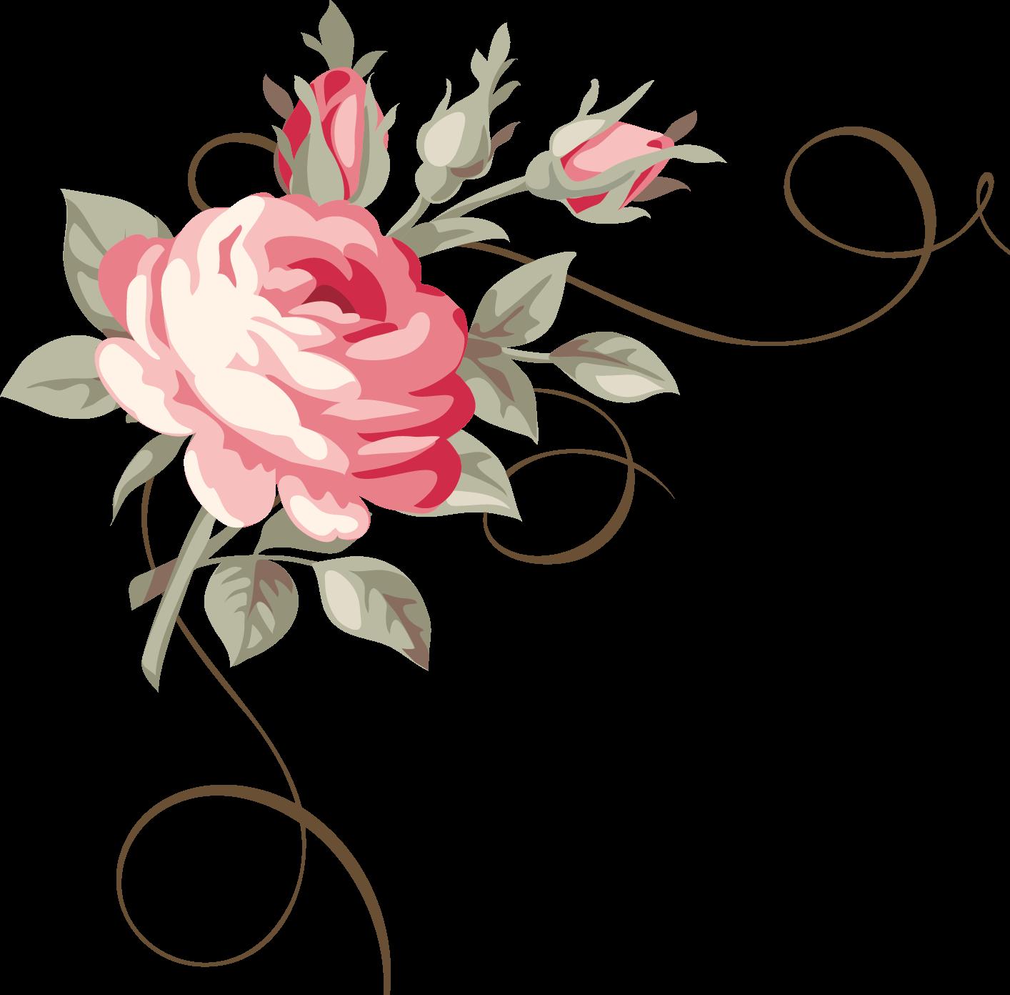 Clipart rose chalkboard. Frames floral em png
