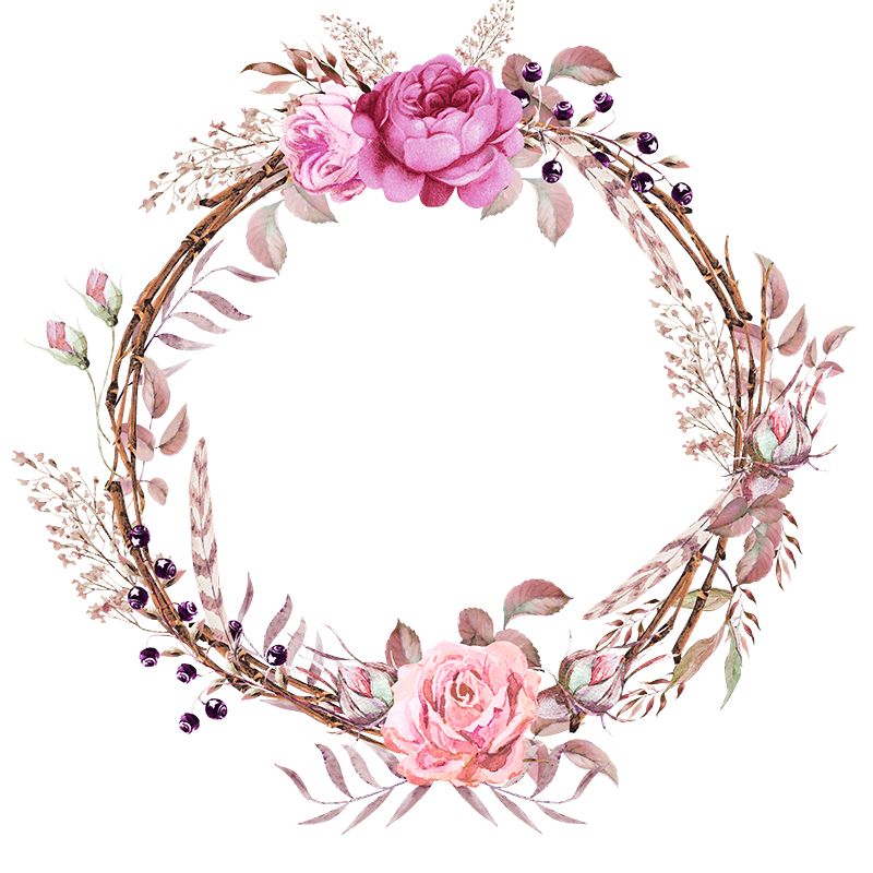 Frames floral em png. Mickey clipart wreath