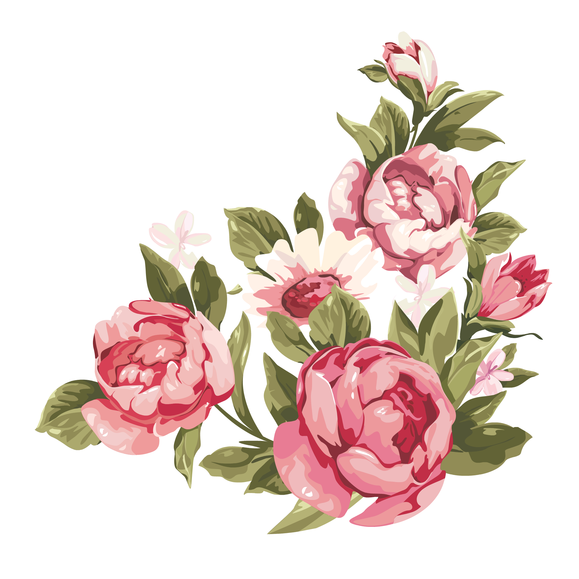 How to distress furniture. Peony clipart wedding flower