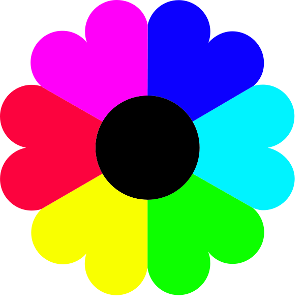 Colour colors free download. Clipart hearts flower