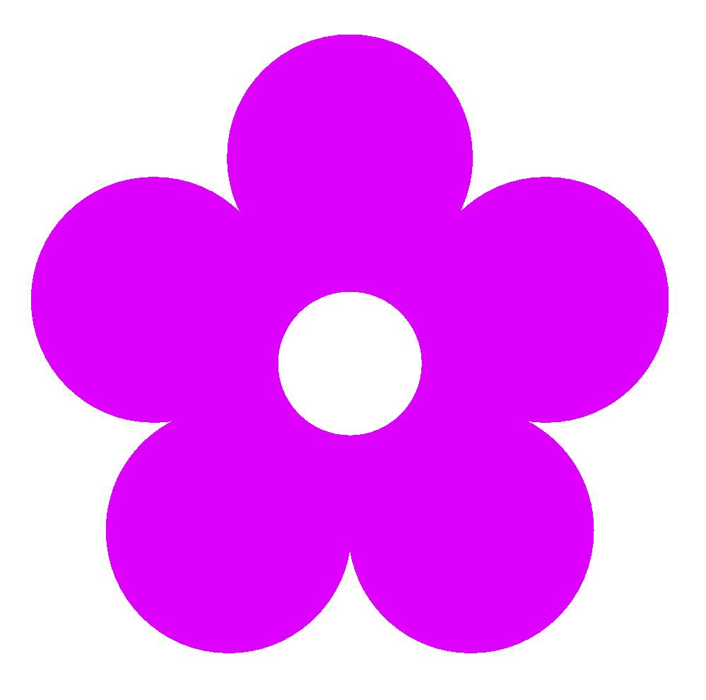 Purple flower clip art. Retro clipart 60's