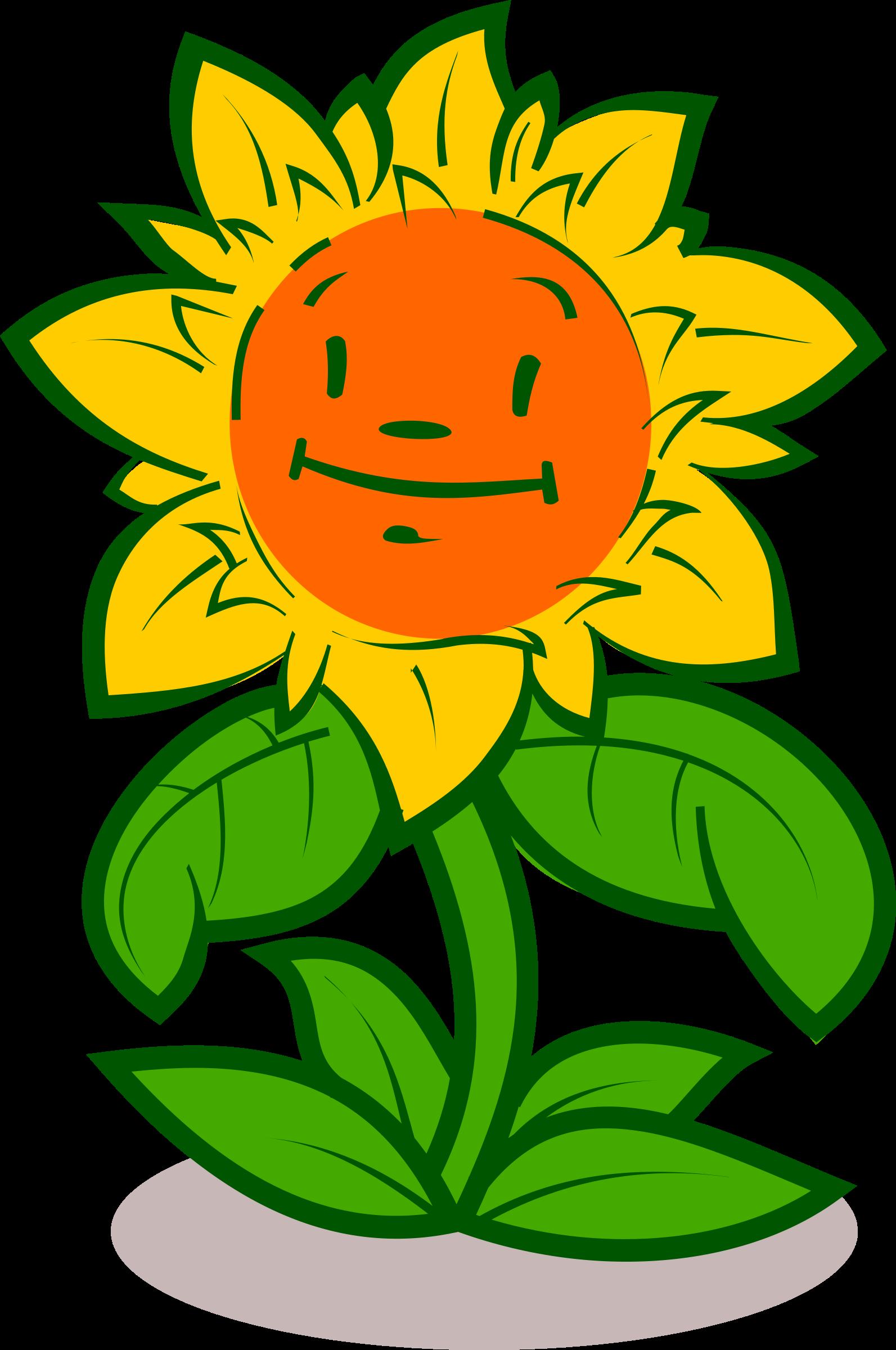 Design clipart garden. Cartoon flower cute big
