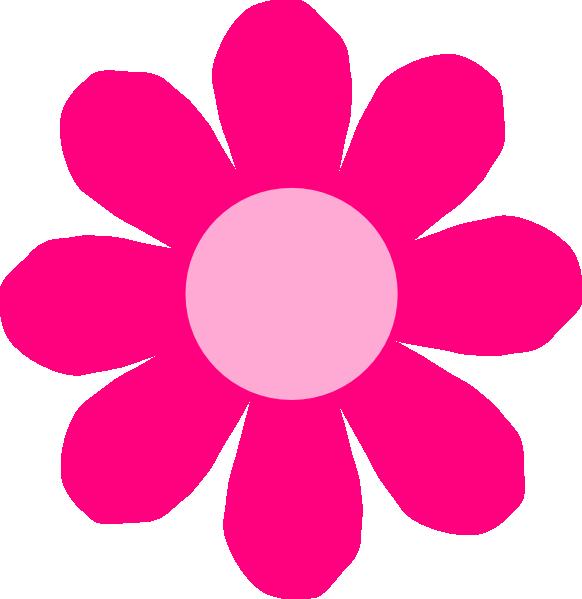 Pink flower clip art. Clipart flowers daisy