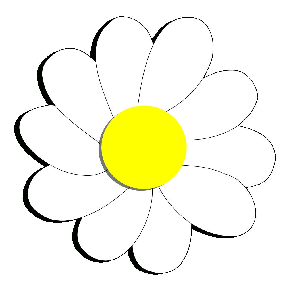 Free daisy public domain. Daisies clipart black and white