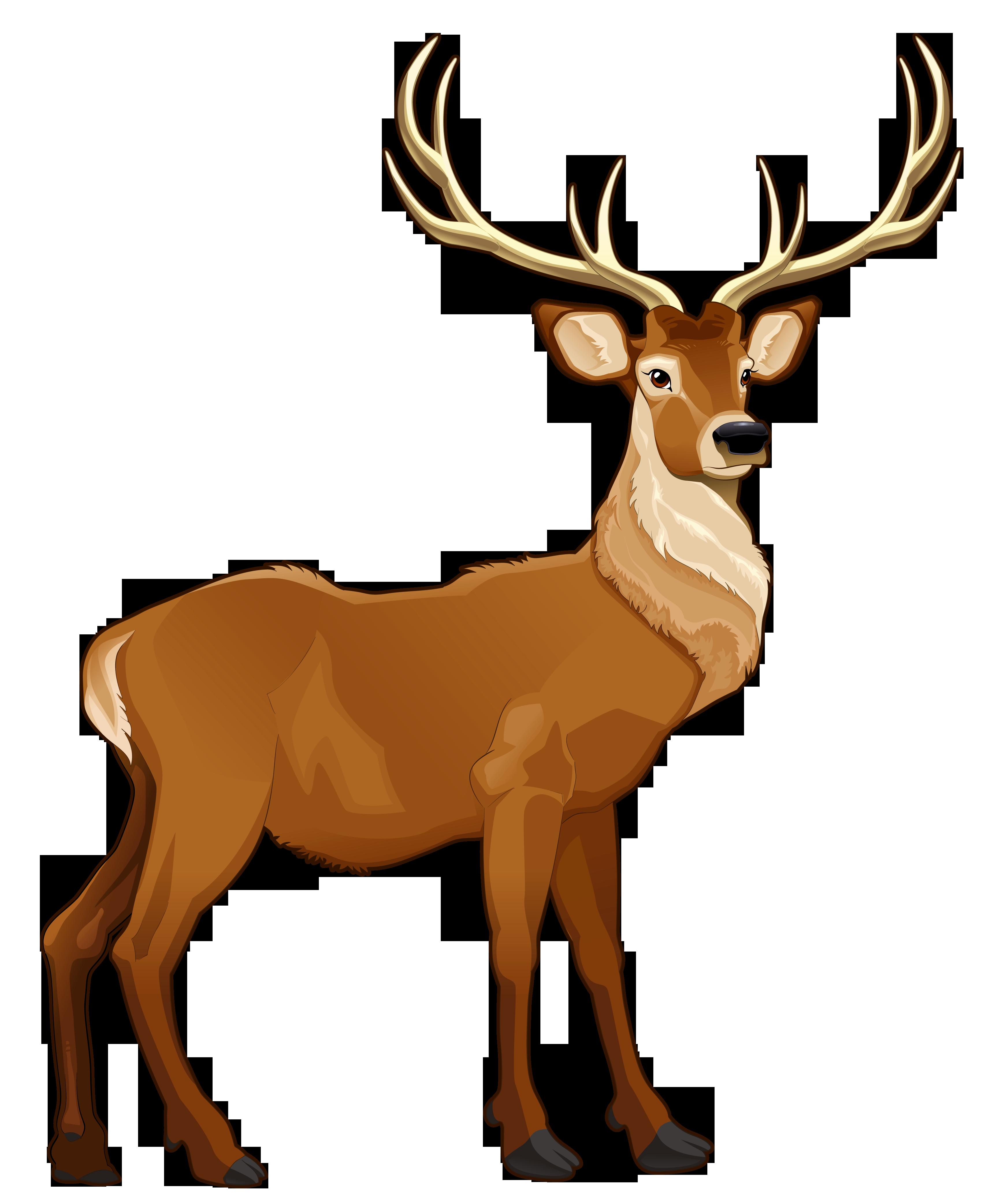 Deer clipart profile. Brown reindeer png picture