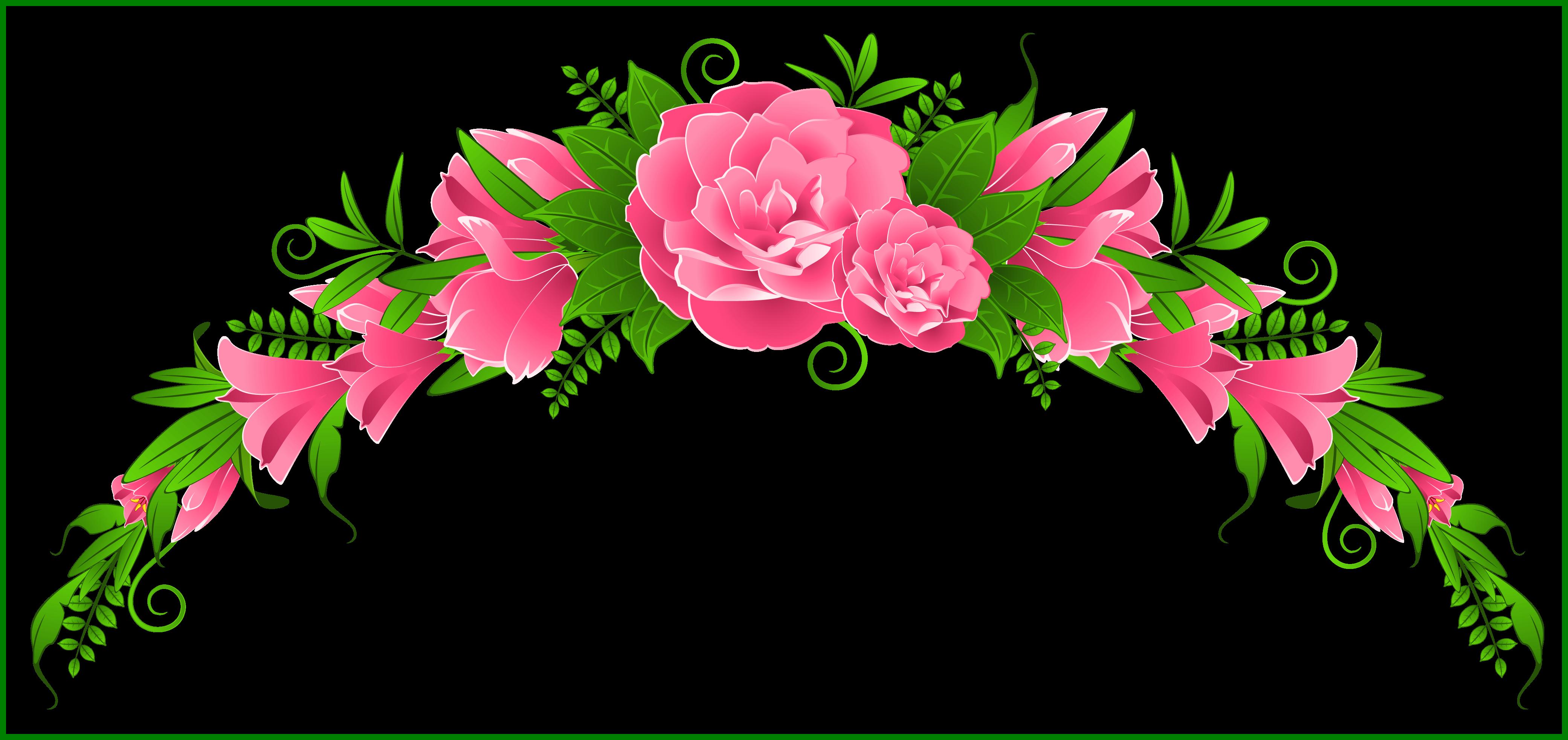Flower design png. Shocking pink and element
