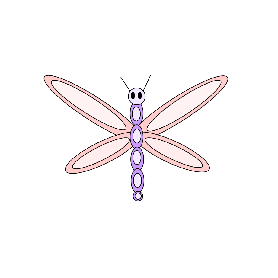 Free n images october. Flower clipart dragonfly