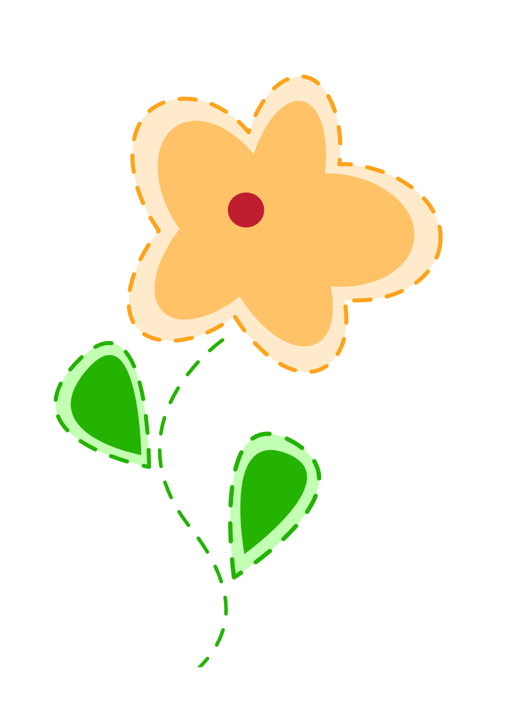 Happy flower . Flowers clipart easter