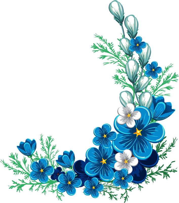 Hydrangea blue drawing