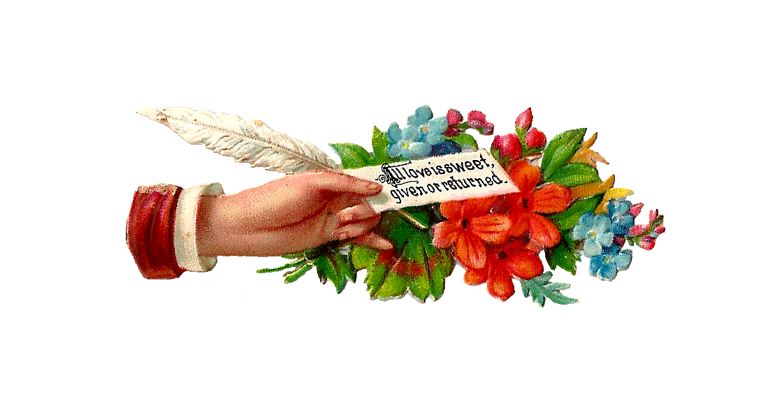 Feather clipart flower. Antique images free clip