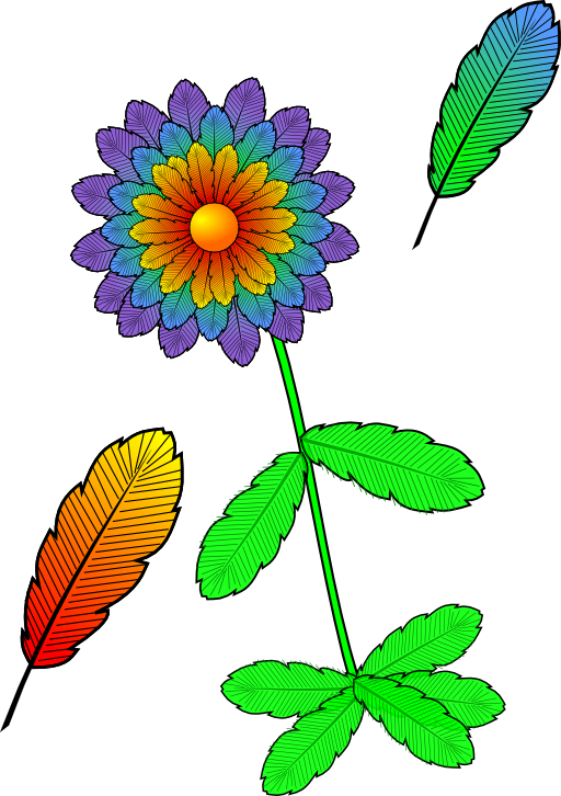 And i royalty free. Feather clipart flower