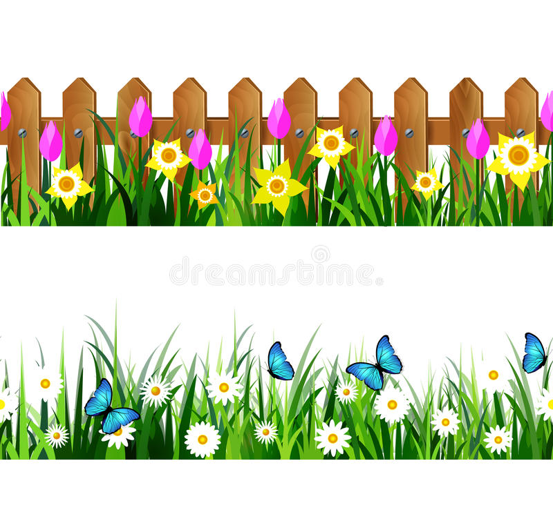 Fence clipart flower. Station