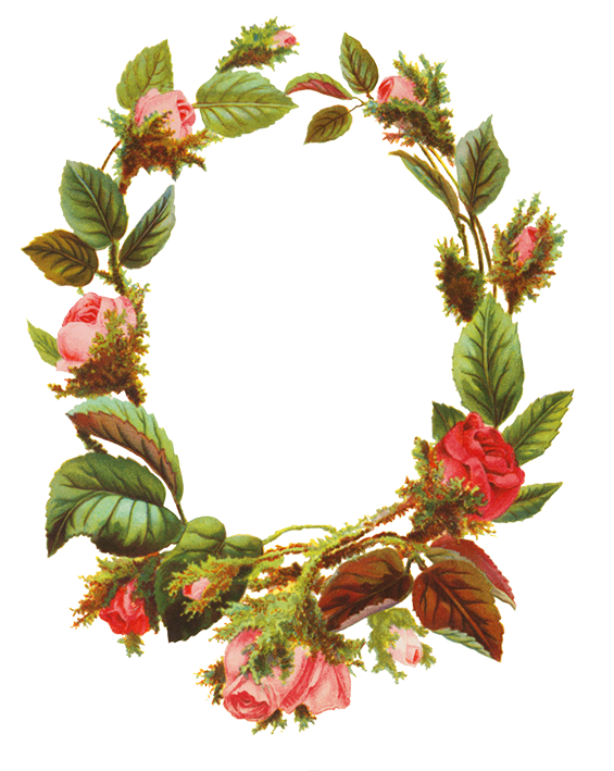 Flower borders and frames. Holiday clipart ivy